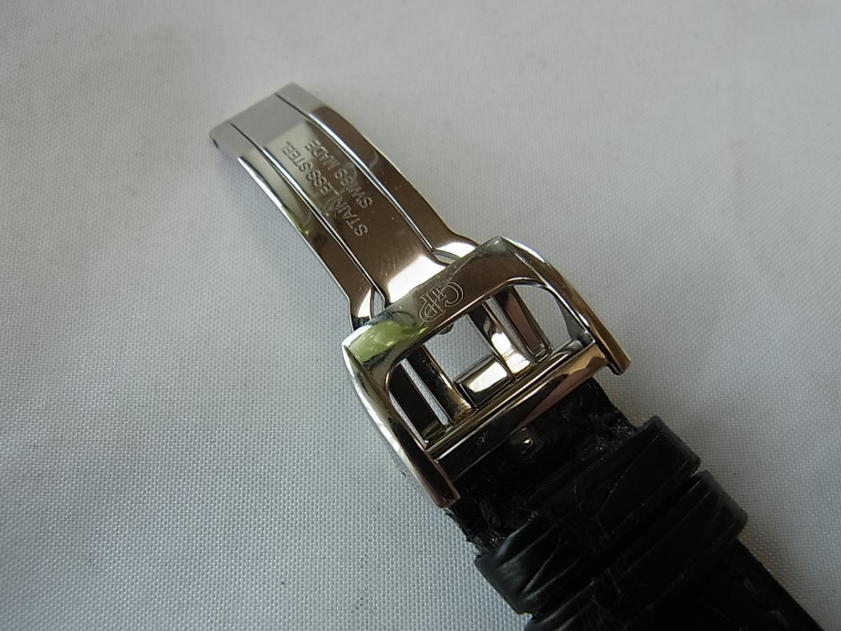 ジラールペルゴヴィンテージ1945 シルバー 25932-11-111-BA6Aの高価売却と黒革ベルトバックル画像