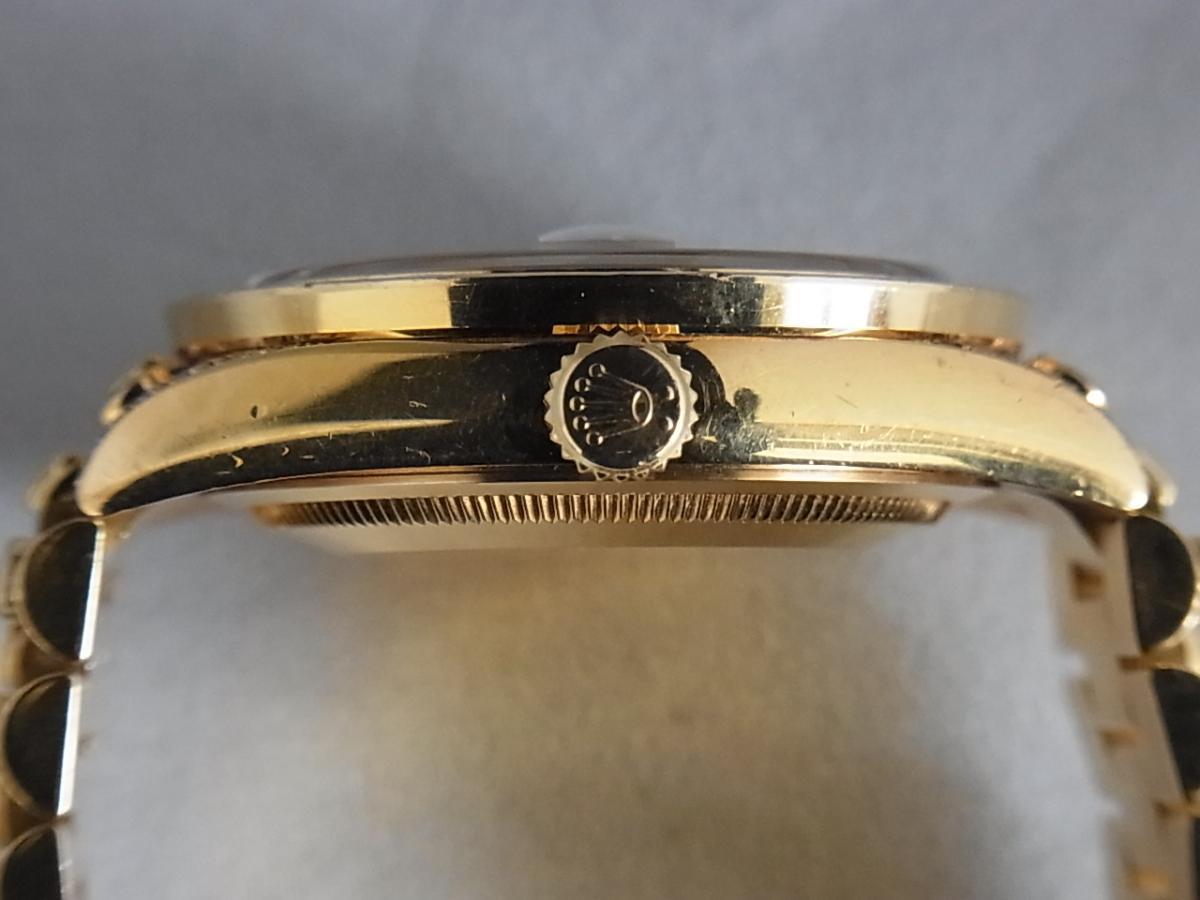 ロレックスデイデイトアフターダイヤモンド118238 P番 改造モデルの買い取り実績と3時リューズサイド画像