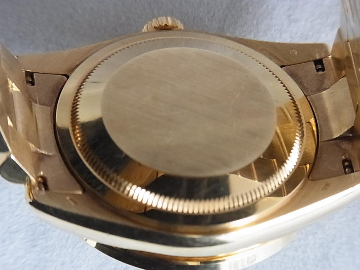 ロレックスデイデイトアフターダイヤモンド118238 P番 改造モデルの売却実績と裏蓋画像