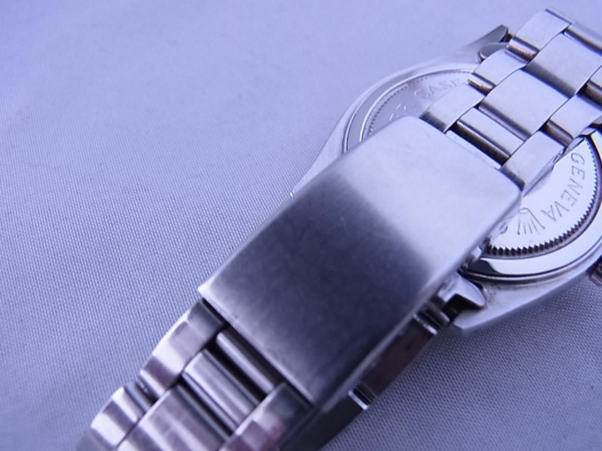 チュードルデカバラリダン 時計本体のみ 1960年代 34mmラウンド型のシルバーケースにブラックダイヤルの高価売却とバックル画像