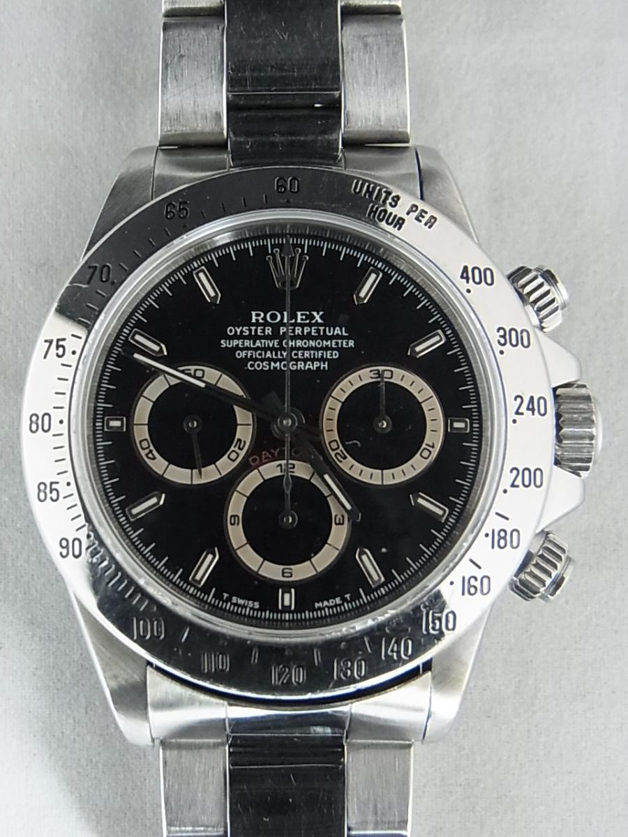ロレックスデイトナ16520 T番シリアル(ロレックスデイトナ16520 T番シリアルとは、1996年製造のロレックスデイトナ16520モデルであることを意味しています。)の買取実績と正面全体画像