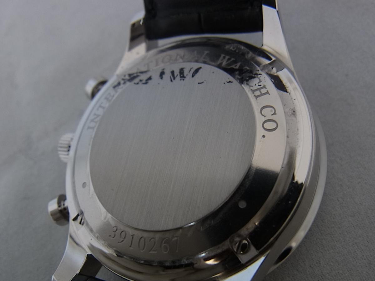 IWCポルトギーゼクロノグラフブラックダイヤルIW371447の売却実績と裏蓋画像