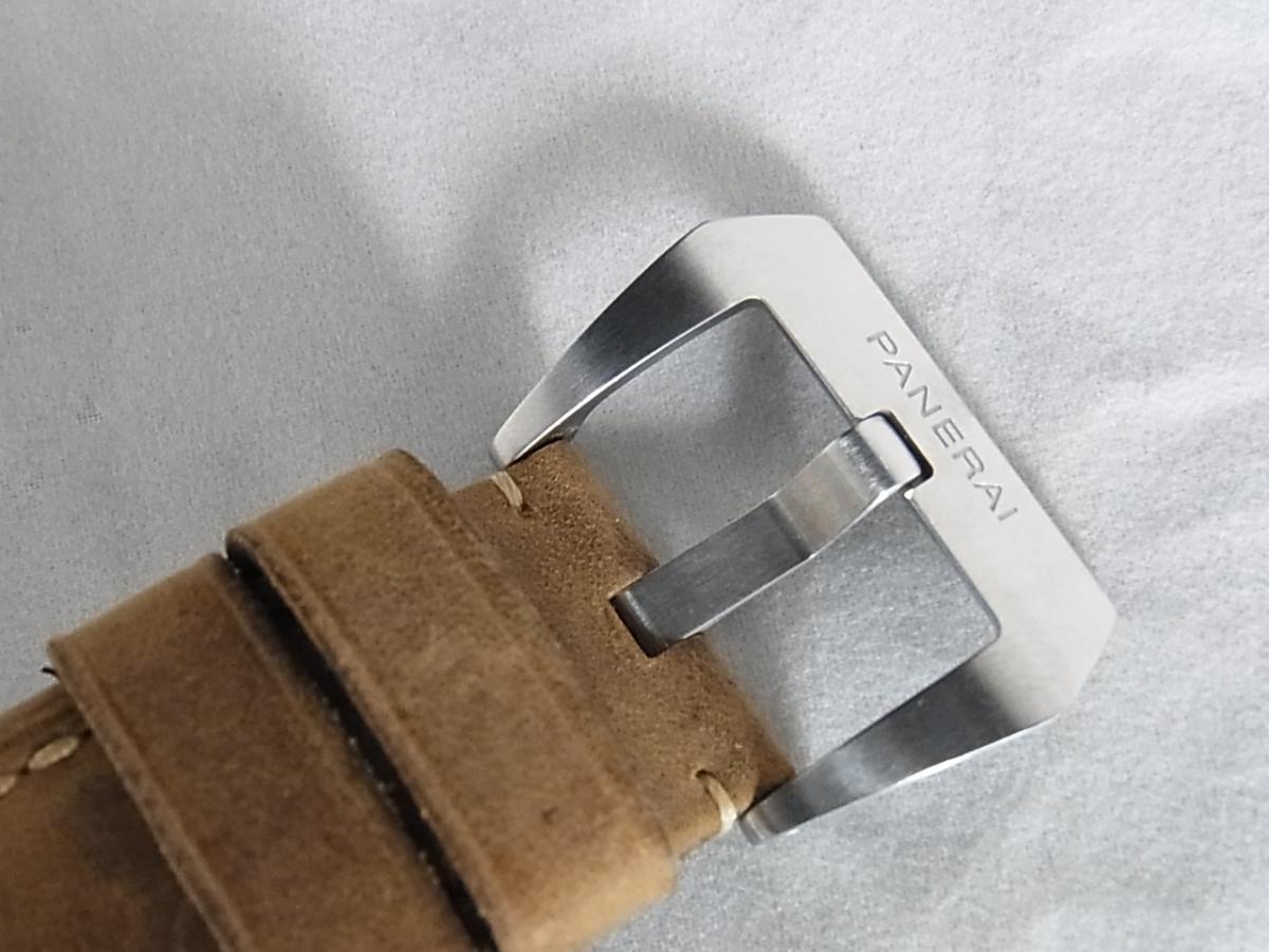 パネライルミノールマリーナ1950スリーデイズ47㎜ PAM00422/2013年製造P番シリアルの高価売却と尾錠画像