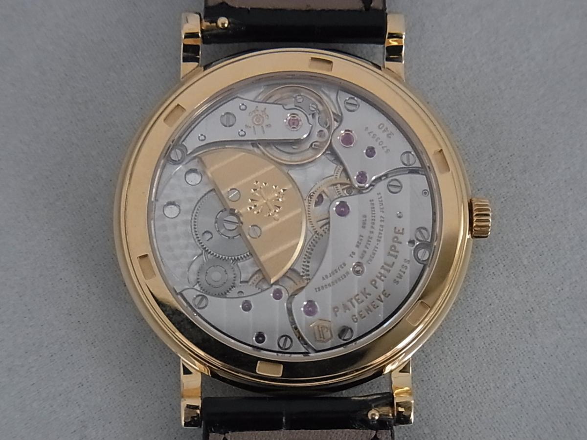 パテックフィリップカラトラバ5120j-001 の売却実績と裏蓋バックスケルトン画像
