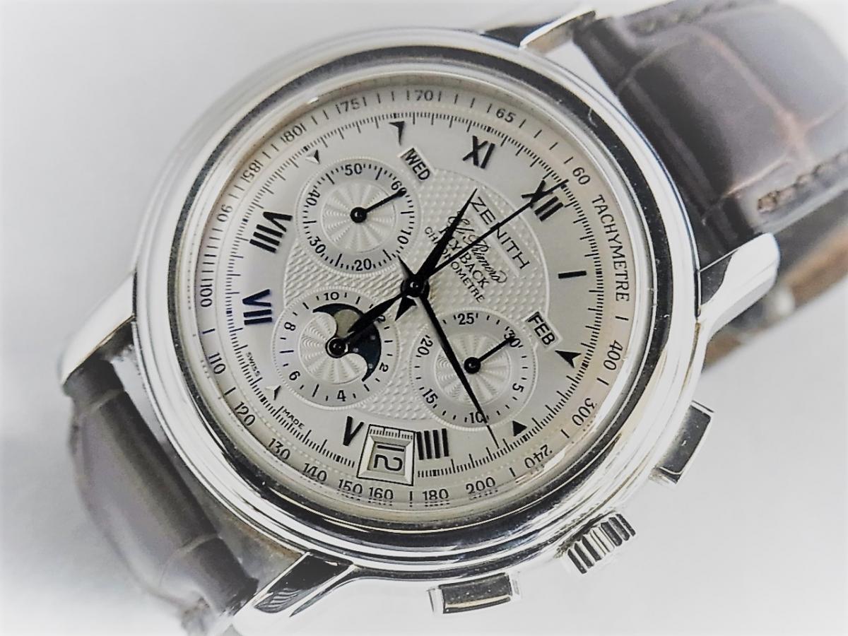 ゼニス クロノマスター 03.1240.4001-01.C496.GB  買取り実績 フェイス斜め画像 時計を売るならピアゾ(PIAZO)