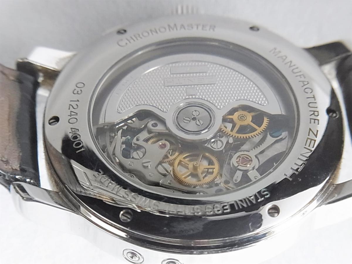 ゼニス クロノマスター 03.1240.4001-01.C496.GB  売却実績 裏蓋画像 時計を売るならピアゾ(PIAZO)