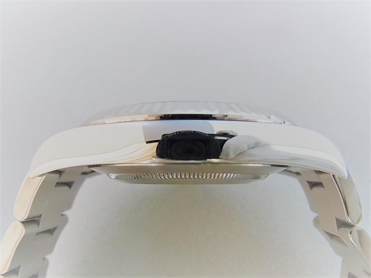 ロレックス デイトジャストⅡ 116334  高額売却実績 9時ケースサイド画像