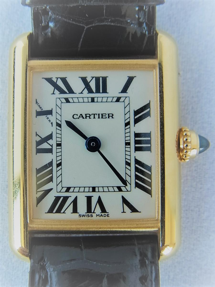 カルティエ18K タンクルイカルティエSM w1529856 箱・カルティエ正規店保証書有 買取実績 正面全体画像 時計を売るならピアゾ(PIAZO)