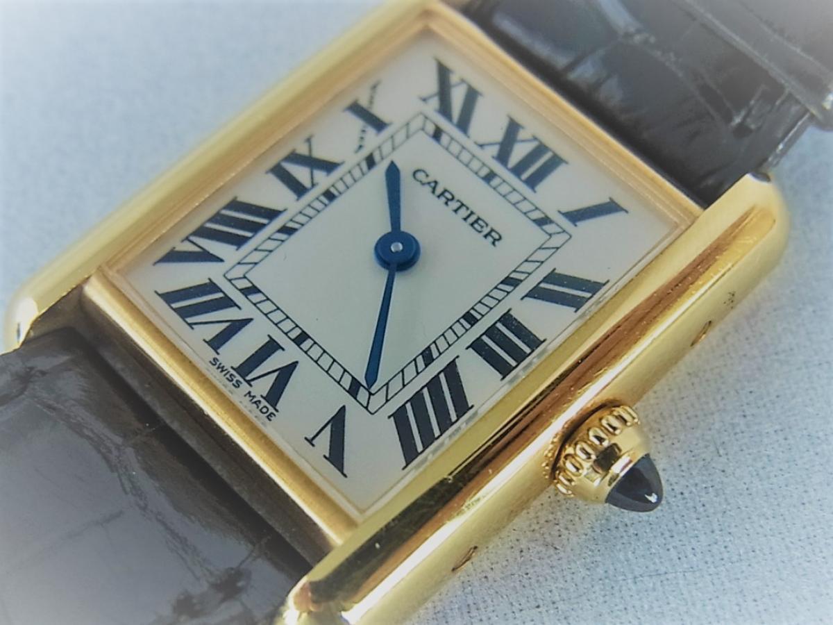 カルティエ18K タンクルイカルティエSM w1529856 箱・カルティエ正規店保証書有 買取り実績 フェイス斜め画像 時計を売るならピアゾ(PIAZO)