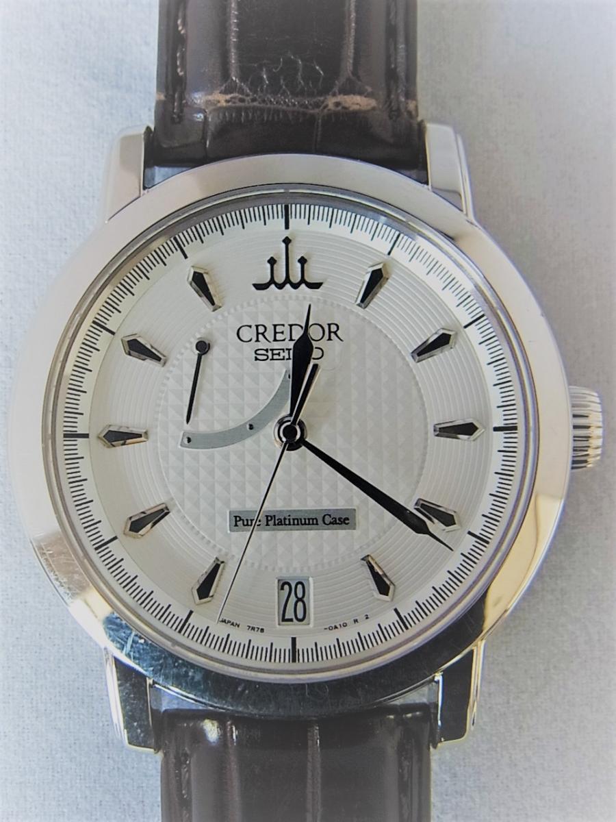 クレドールスプリングドライブ初期型GBLG999 25周年限定プラチナ1000採用モデル 買取実績 正面全体画像 時計を売るならピアゾ(PIAZO)