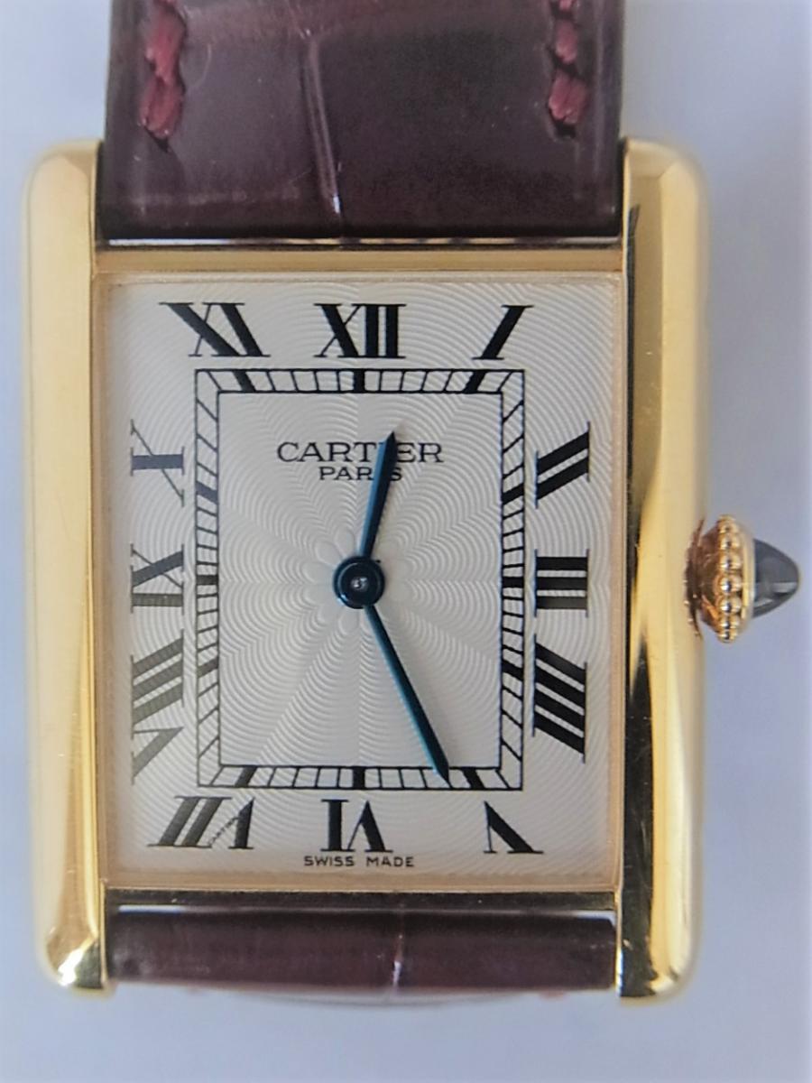 カルティエタンクルイW1527851 LM K18YG コレクション・プリヴェ CPCP  買取実績 正面全体画像 時計を売るならピアゾ(PIAZO)