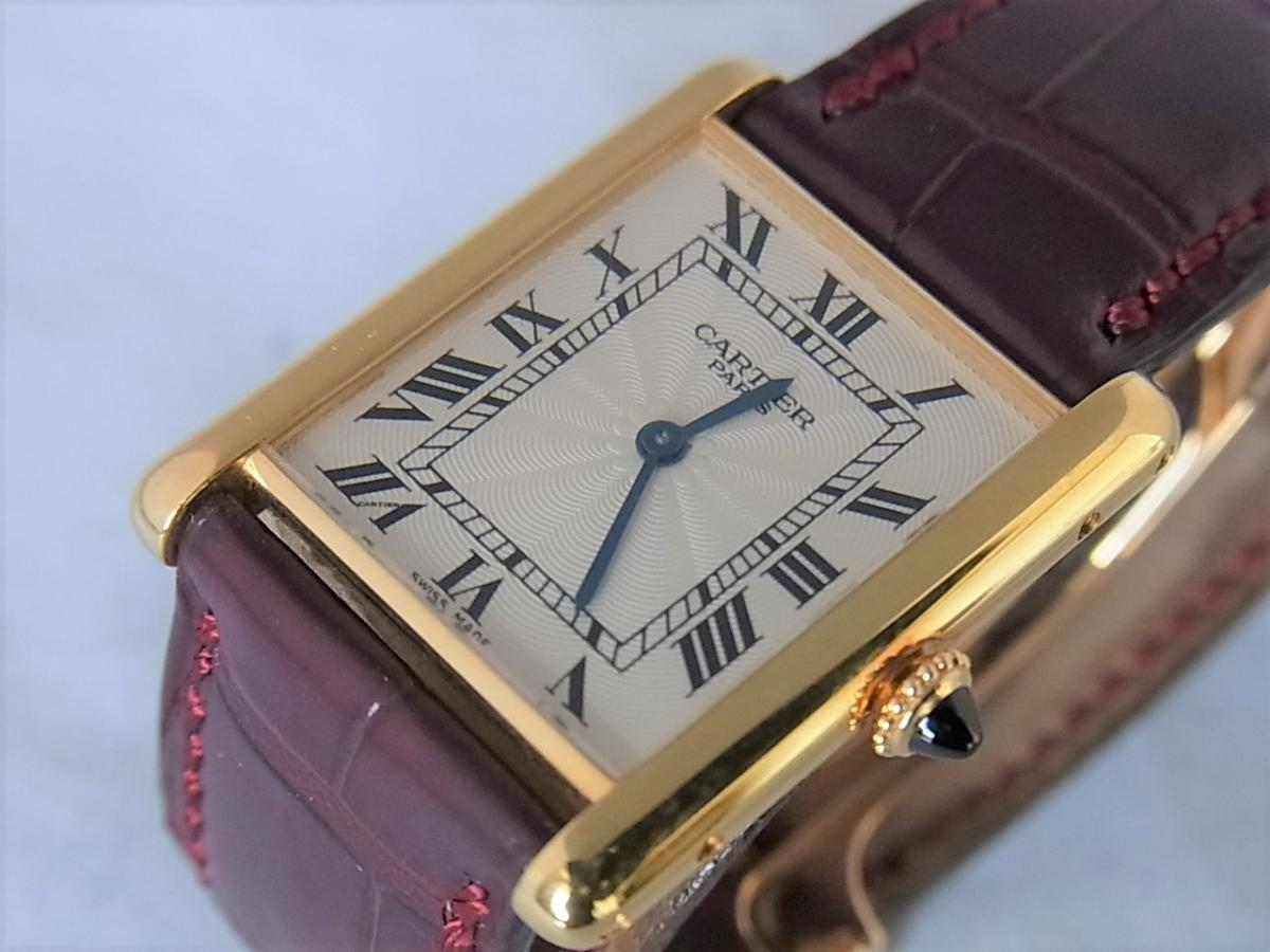 カルティエタンクルイW1527851 LM K18YG コレクション・プリヴェ CPCP  買取り実績 フェイス斜め画像 時計を売るならピアゾ(PIAZO)