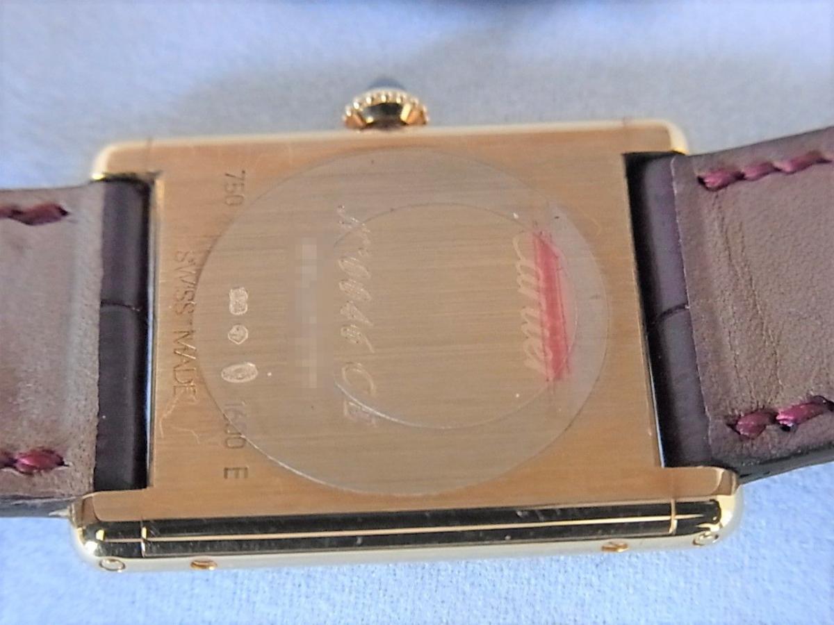 カルティエタンクルイW1527851 LM K18YG コレクション・プリヴェ CPCP  売却実績 裏蓋画像 時計を売るならピアゾ(PIAZO)