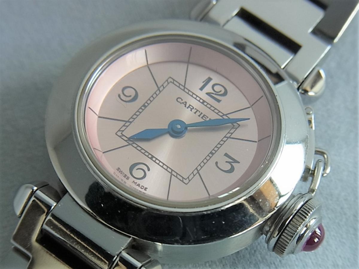 カルティエミスパシャref.W3140008 買取り実績 フェイス斜め画像 時計を売るならピアゾ(PIAZO)