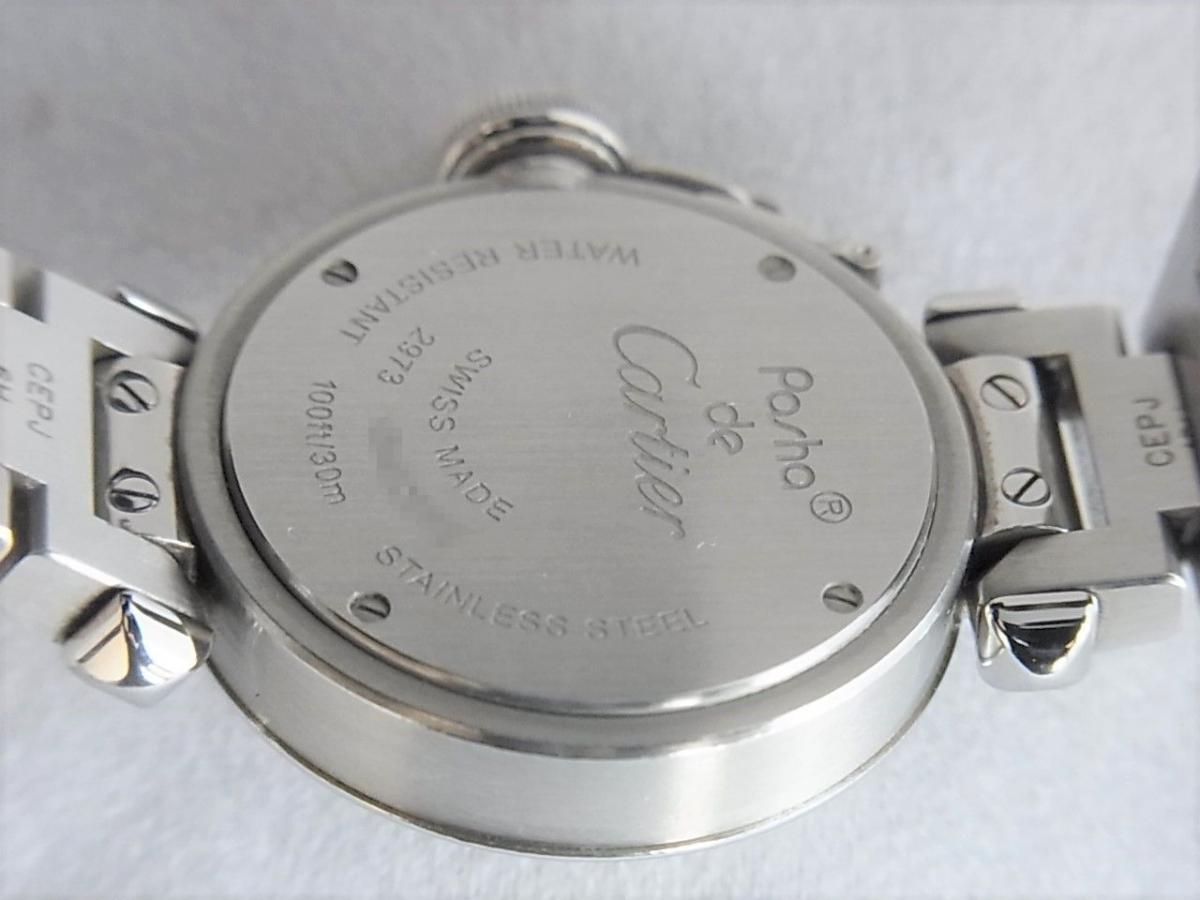 カルティエミスパシャref.W3140008 売却実績 裏蓋画像 時計を売るならピアゾ(PIAZO)
