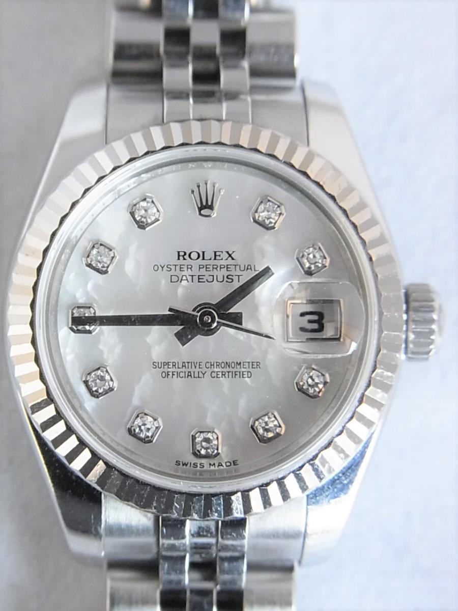 ロレックスデイトジャスト179174NG M番シリアル 買取実績 正面全体画像 時計を売るならピアゾ(PIAZO)