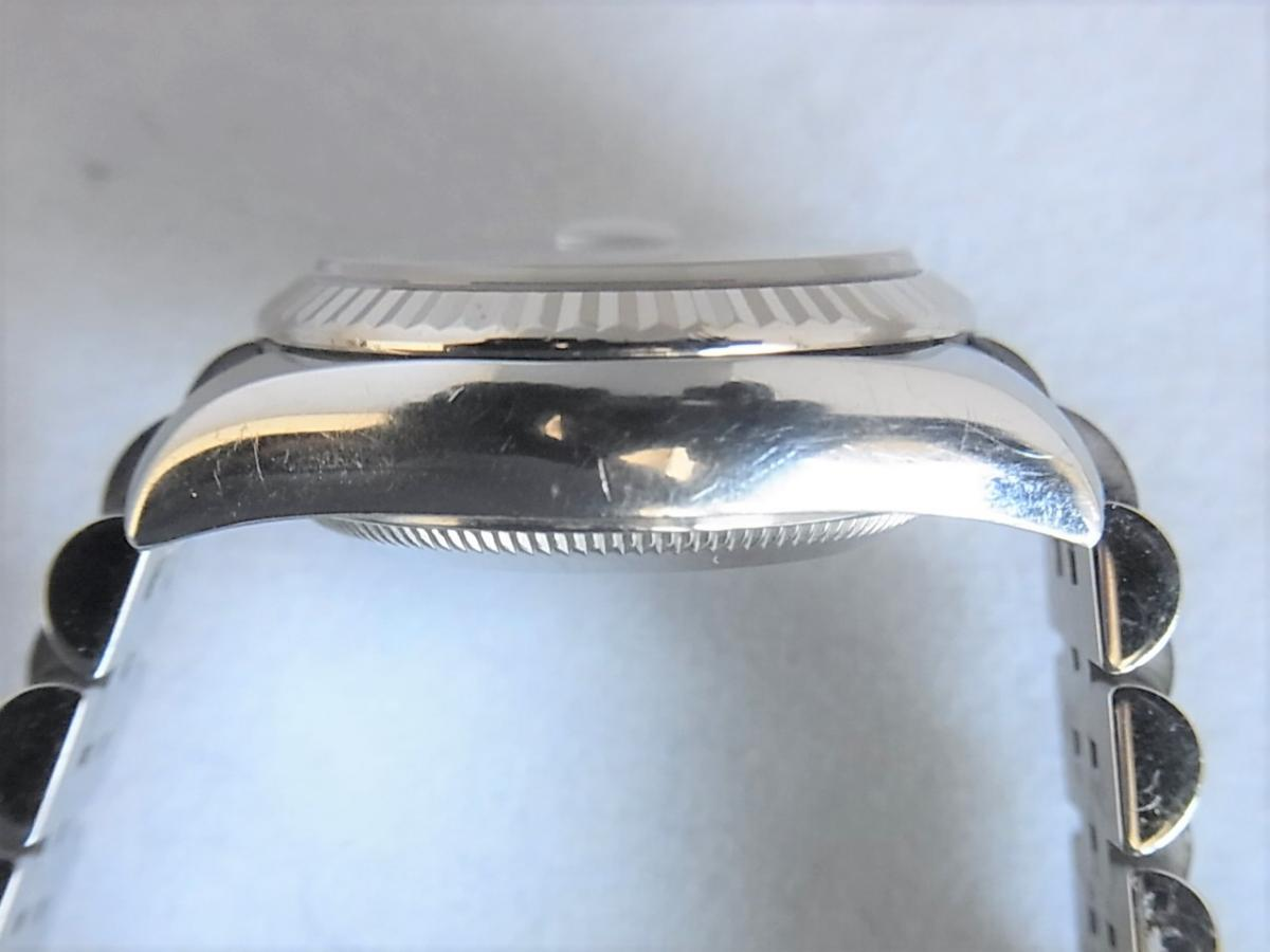 ロレックスデイトジャスト179174NG M番シリアル 高額売却実績 9時ケースサイド画像 時計を売るならピアゾ(PIAZO)