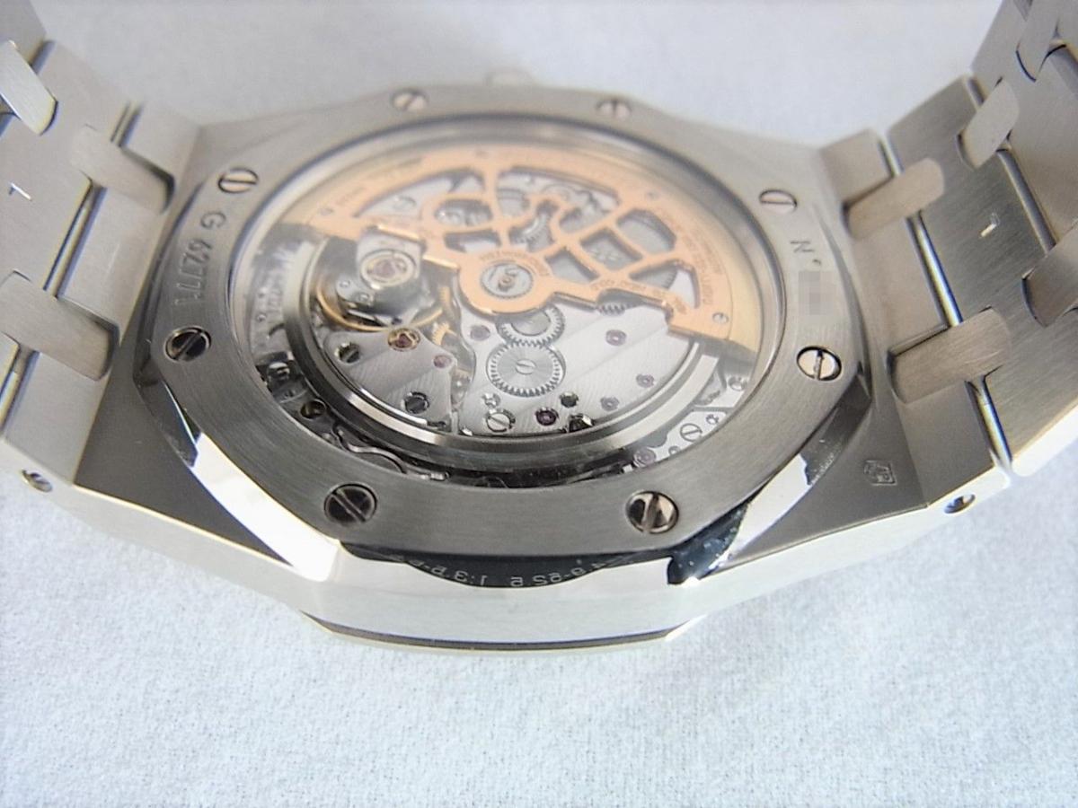 オーデマピゲロイヤルオーク ジャンボ15202ST.OO.0944ST.02 時計本体のみ 売却実績 裏蓋バックスケルトン画像 時計を売るならピアゾ(PIAZO)