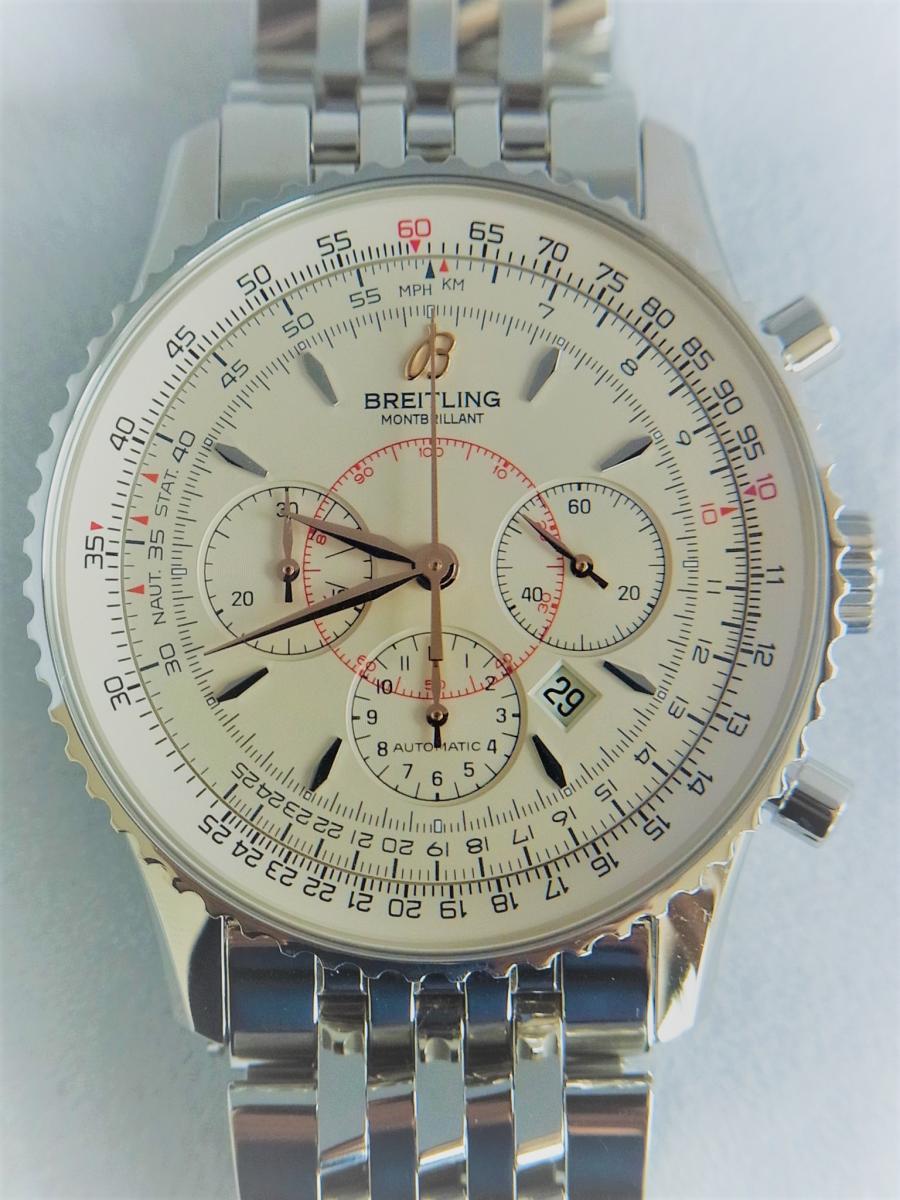 ブライトリングモンブリラン38mm A41370 、A417G34NP 買取実績 正面全体画像 時計を売るならピアゾ(PIAZO)