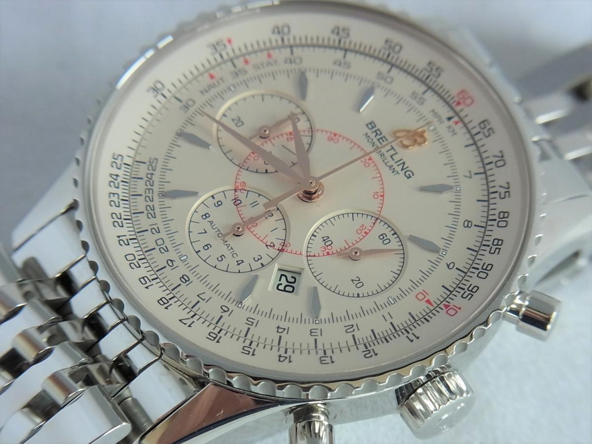 ブライトリングモンブリラン38mm A41370 、A417G34NP 買取り実績 フェイス斜め画像 時計を売るならピアゾ(PIAZO)