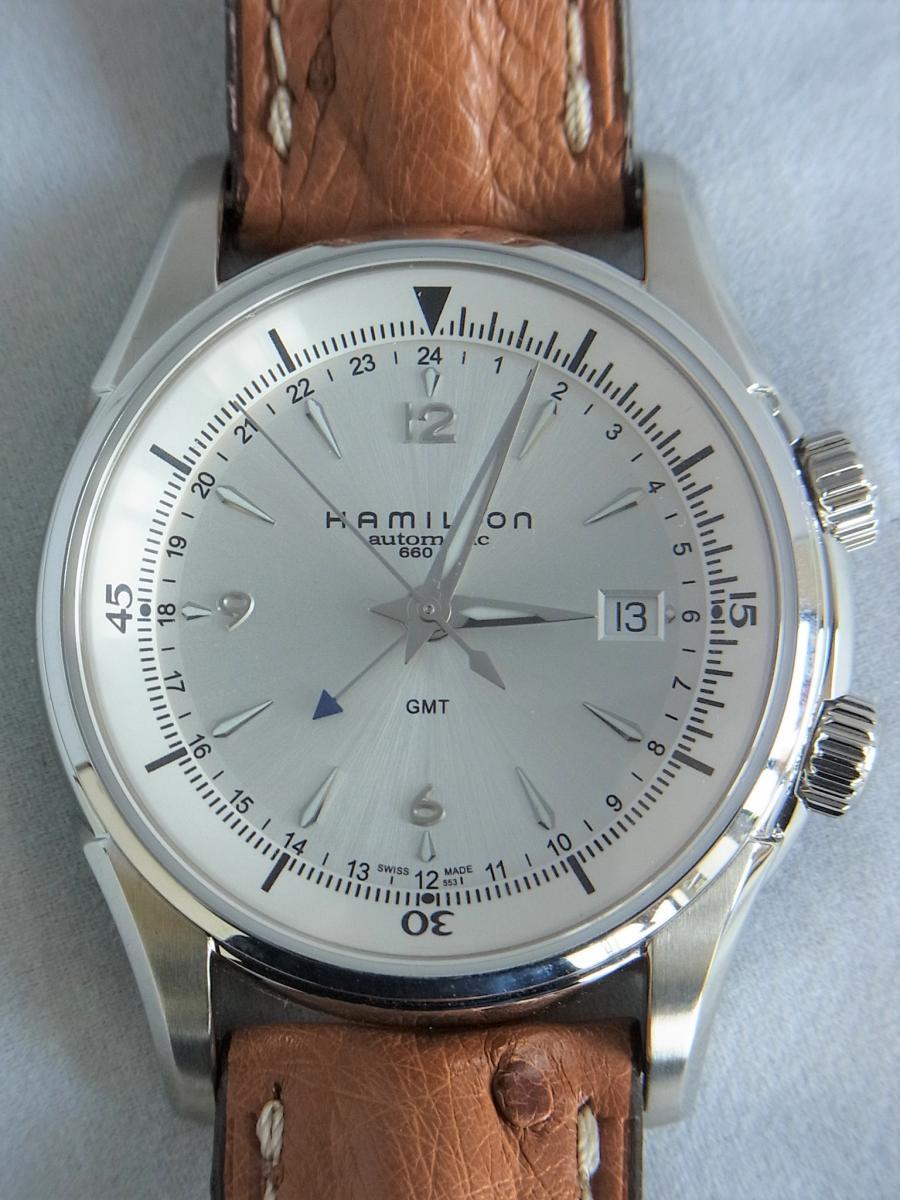ハミルトンジャズマスタートラベラー2 H32625555 GMT/アラーム機能搭載モデル 買取実績 正面全体画像 時計を売るならピアゾ(PIAZO)