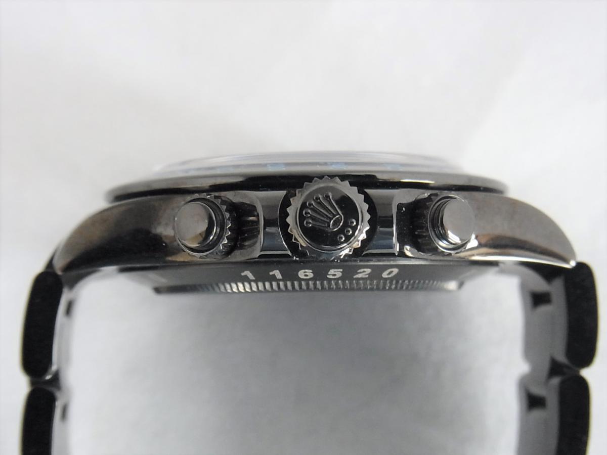 ロレックスデイトナカスタムブルーPVD加工 プロジェクトX 116520ランダムシリアル買い取り実績 3時リューズサイド画像 時計を売るならピアゾ(PIAZO)