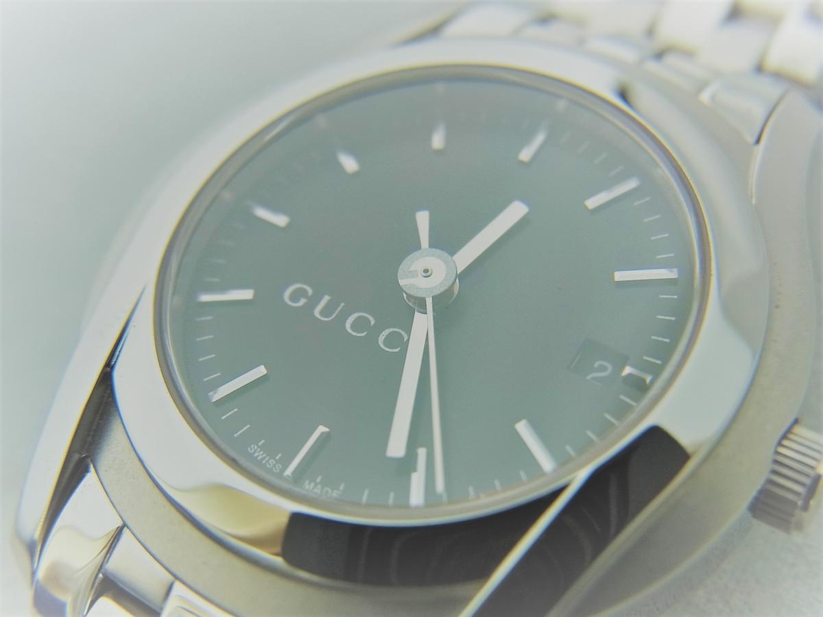 グッチGクラスYA055518 買取り実績 フェイス斜め画像 時計を売るならピアゾ(PIAZO)