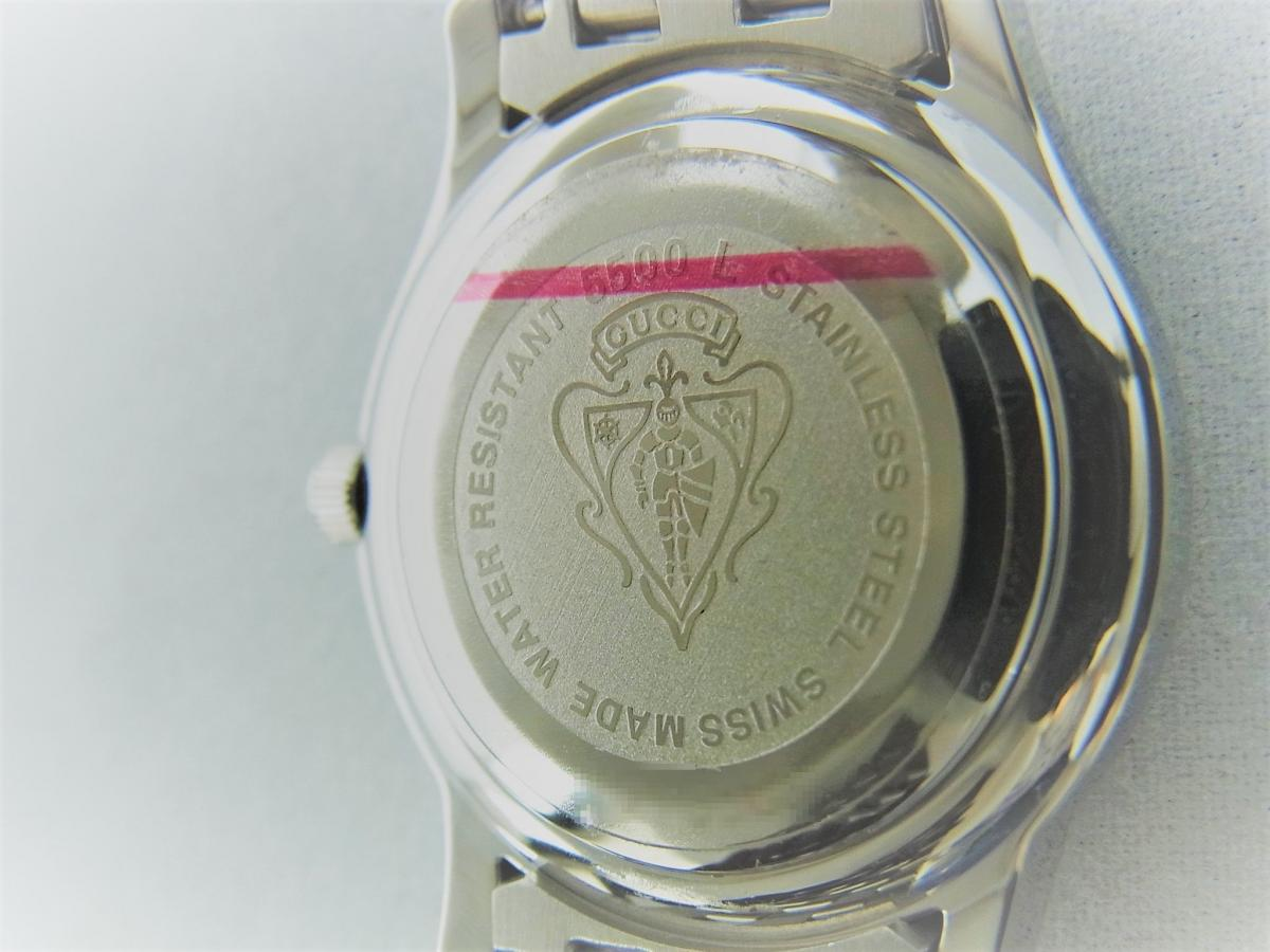 グッチGクラスYA055518 売却実績 裏蓋画像 時計を売るならピアゾ(PIAZO)