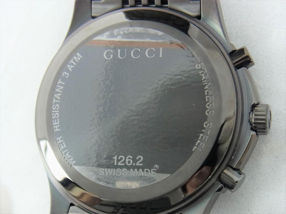 グッチGタイムレスYA126217 売却実績 裏蓋画像 時計を売るならピアゾ(PIAZO)