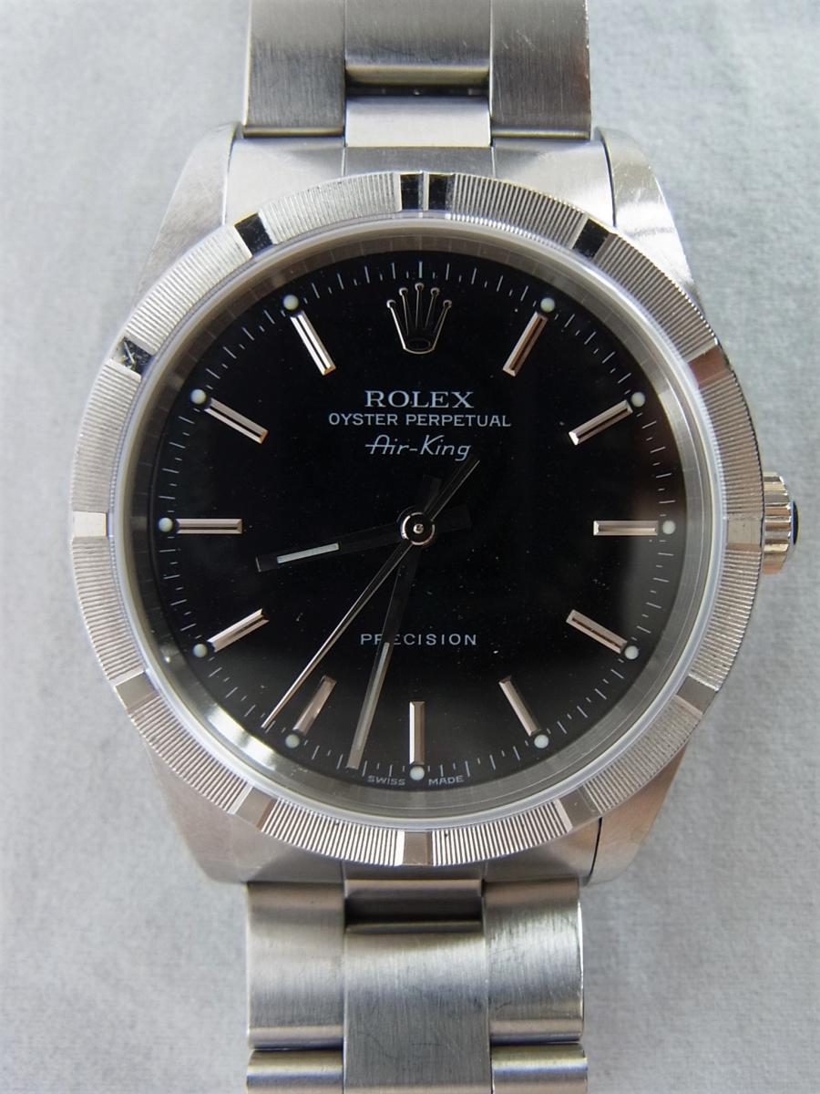 ロレックスエアキング14010M黒文字盤バーインデックス F番シリアル 買取実績 正面全体画像 時計を売るならピアゾ(PIAZO)