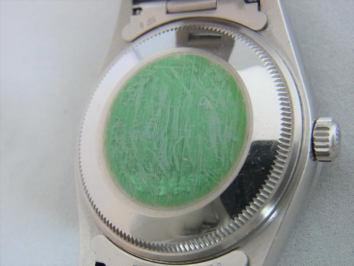 ロレックスエアキング14010M黒文字盤バーインデックス F番シリアル 売却実績 裏蓋画像 時計を売るならピアゾ(PIAZO)