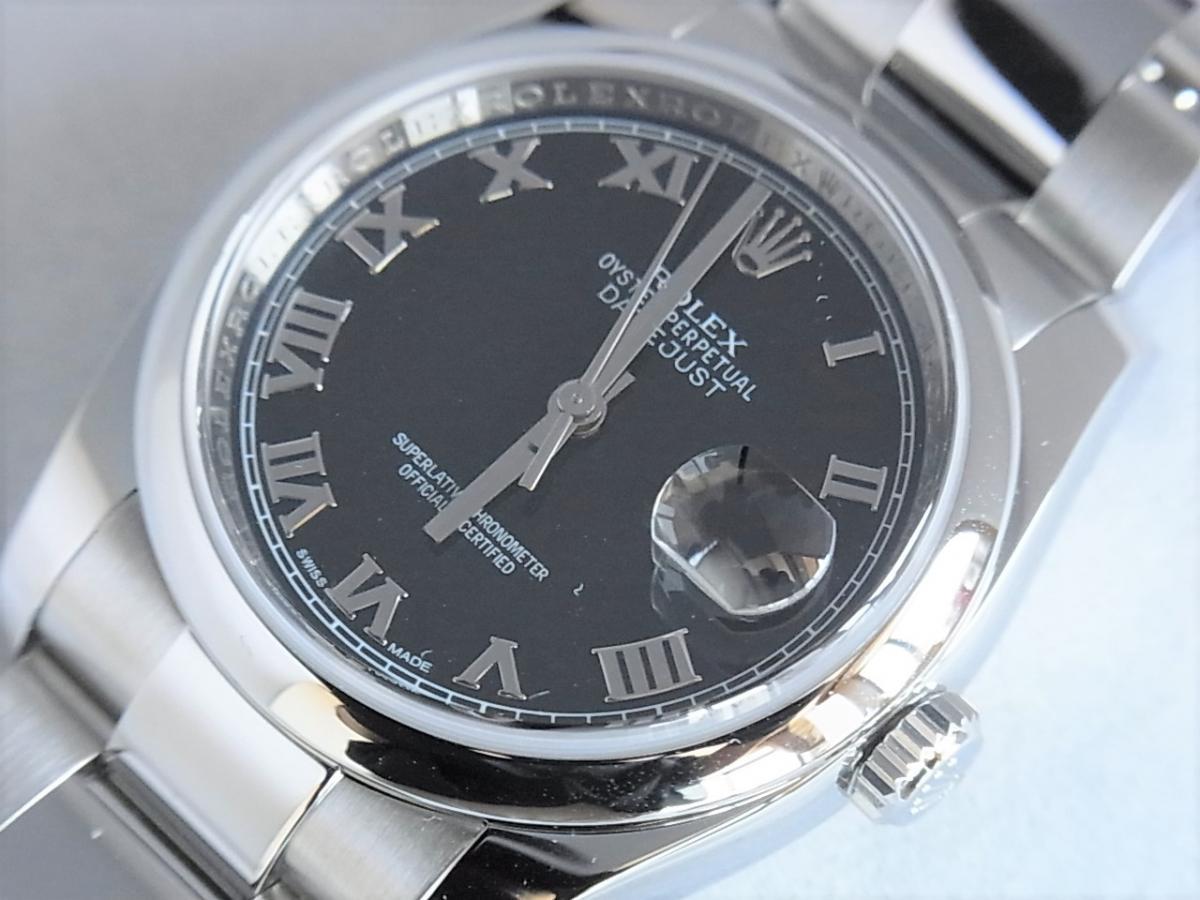 ロレックスデイトジャスト116200 シリアルナンバーM品番 買取り実績 フェイス斜め画像 時計を売るならピアゾ(PIAZO)