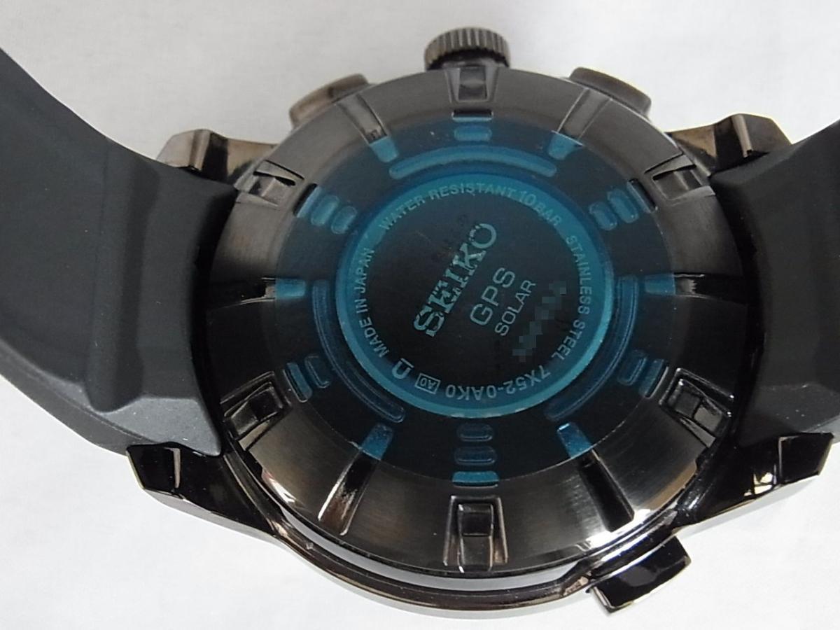 セイコーアストロンソーラーGPS搭載ウォッチSBXA035 売却実績 裏蓋画像 時計を売るならピアゾ(PIAZO)