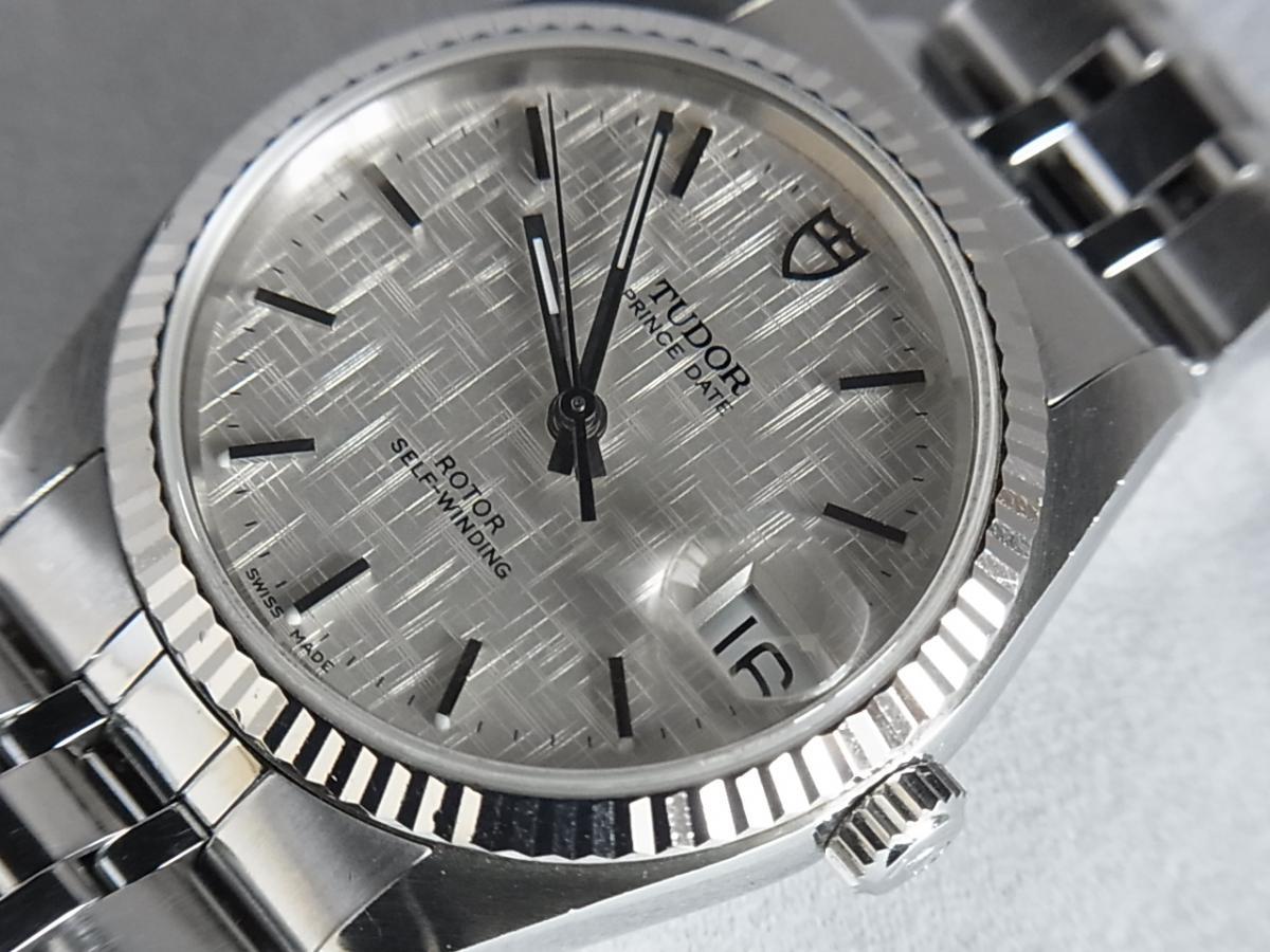 チュードルプリンセスデイト74034 シルバータぺストリー34㎜ H番シリアル 買取り実績 フェイス斜め画像 時計を売るならピアゾ(PIAZO)