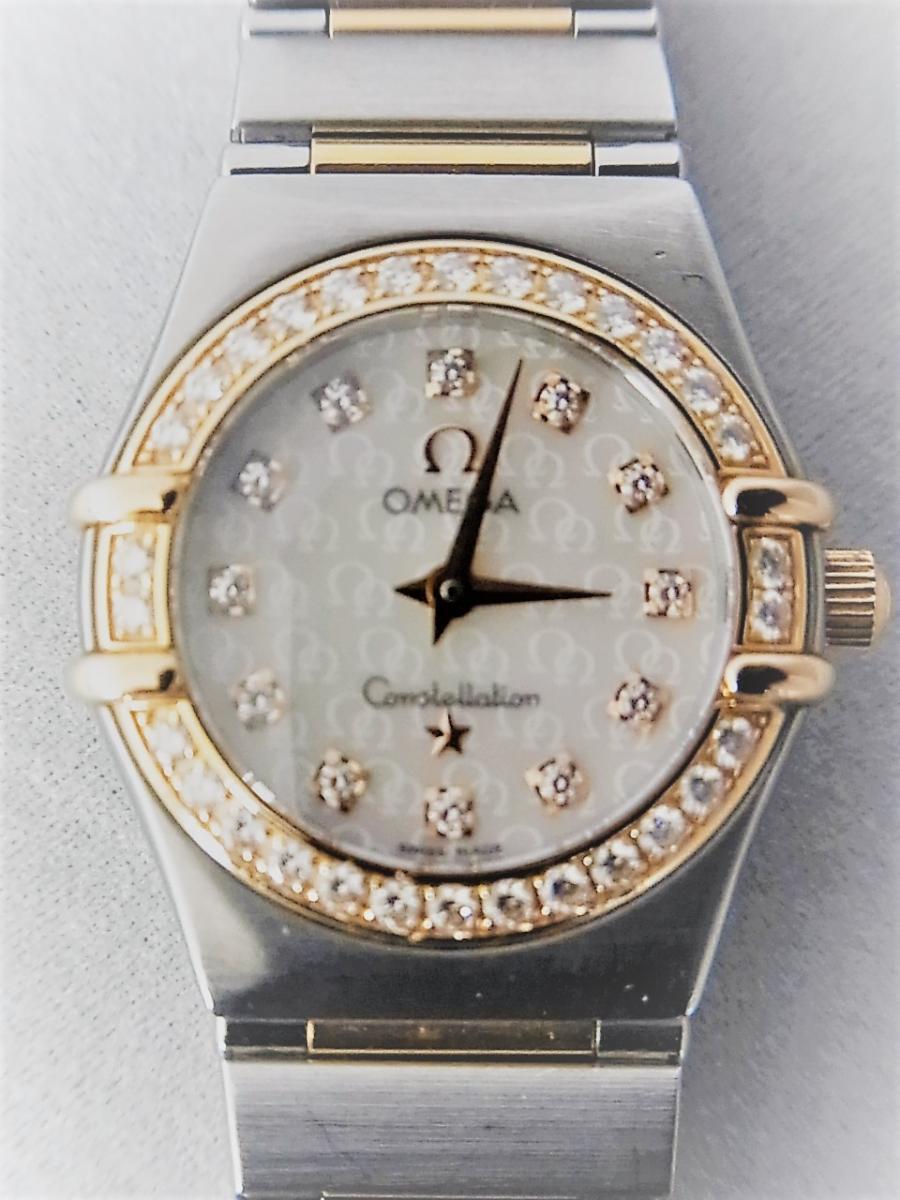 オメガコンステレーションシェルダイヤルダイヤモンド巻ポイントダイヤモンドYG 1358.75 買取実績 正面全体画像 時計を売るならピアゾ(PIAZO)