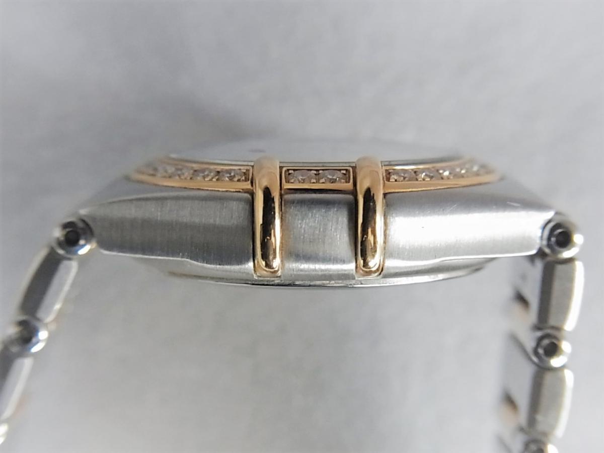 オメガコンステレーションシェルダイヤルダイヤモンド巻ポイントダイヤモンドYG 1358.75 高額売却実績 9時ケースサイド画像 時計を売るならピアゾ(PIAZO)