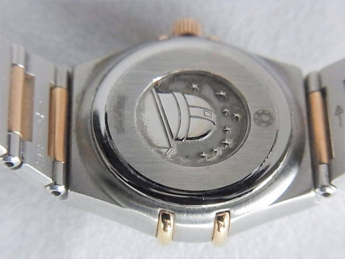 オメガコンステレーションシェルダイヤルダイヤモンド巻ポイントダイヤモンドYG 1358.75 売却実績 裏蓋画像 時計を売るならピアゾ(PIAZO)
