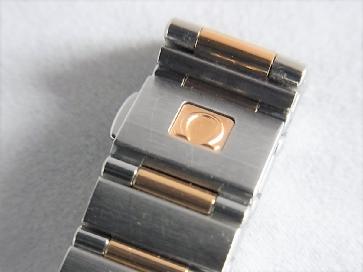 オメガコンステレーションシェルダイヤルダイヤモンド巻ポイントダイヤモンドYG 1358.75 高価売却 バックル画像 時計を売るならピアゾ(PIAZO)