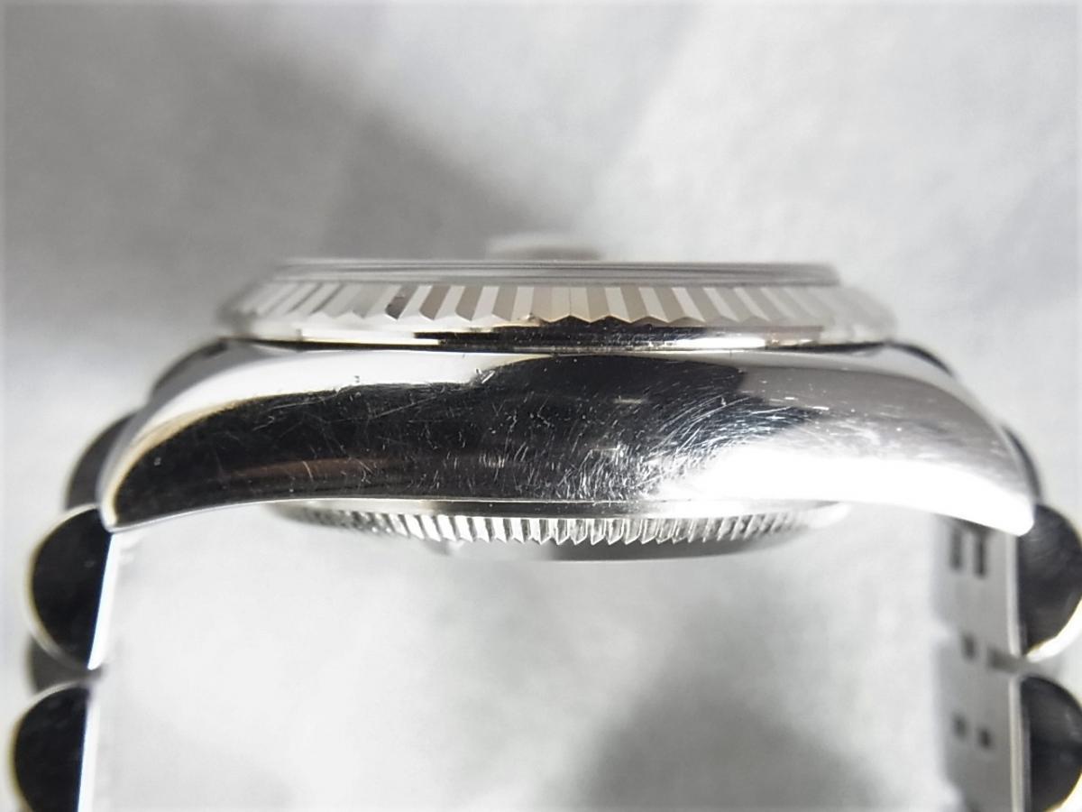 ロレックスデイトジャスト179174NG 10Pダイヤモンド M番シリアル 高額売却実績 9時ケースサイド画像 時計を売るならピアゾ(PIAZO)
