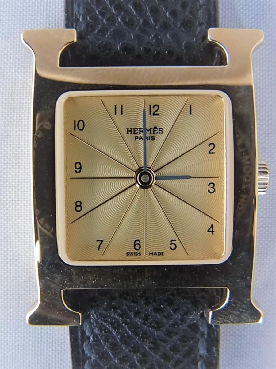 エルメスHウォッチ 金無垢 HH1.201 新品・未使用品 買取実績 正面全体画像 時計を売るならピアゾ(PIAZO)