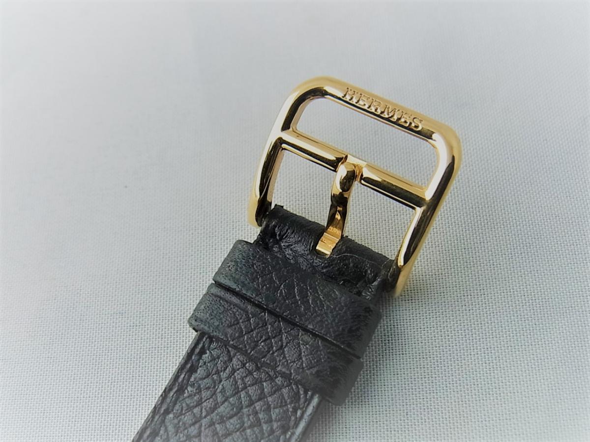 エルメスHウォッチ 金無垢 HH1.201 新品・未使用品 売却実績 高価売却 バックル画像 時計を売るならピアゾ(PIAZO)