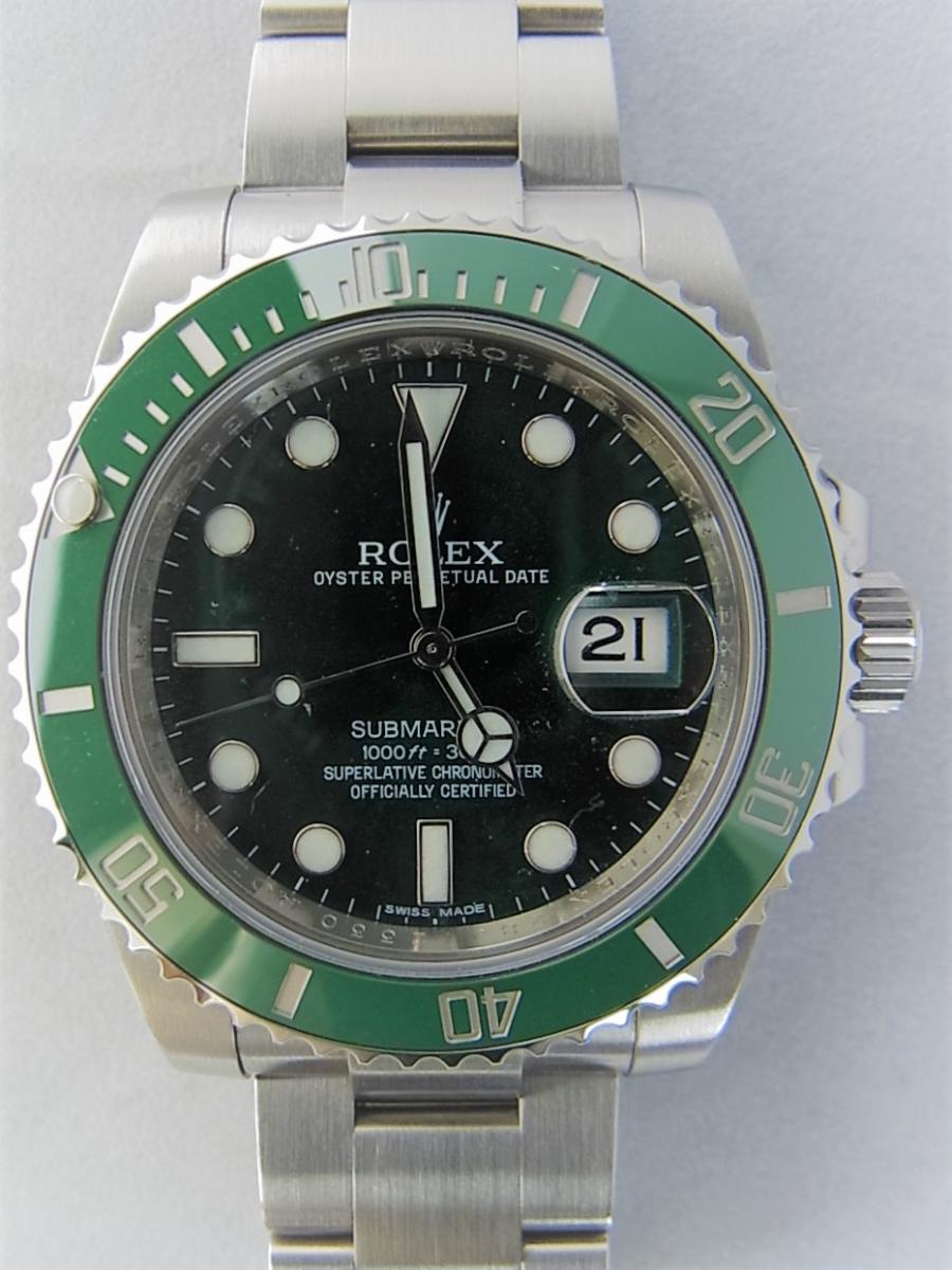 ロレックスグリーンサブマリーナデイトセラミックベゼルグリーンダイヤル116610LV 買取実績 正面全体画像 時計を売るならピアゾ(PIAZO)