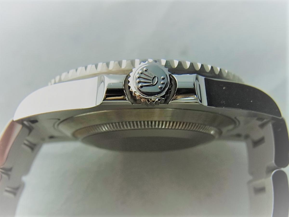 ロレックスグリーンサブマリーナデイトセラミックベゼルグリーンダイヤル116610LV 買い取り実績 3時リューズサイド画像 時計を売るならピアゾ(PIAZO)