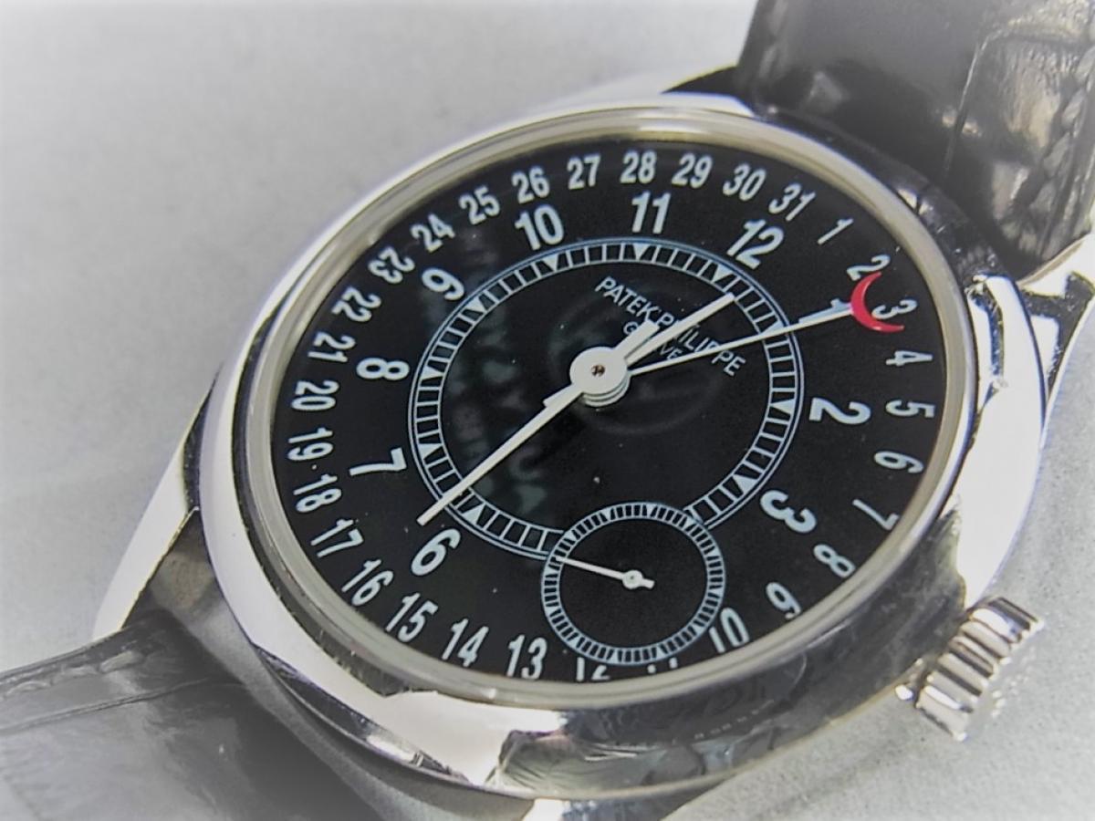 パテックフィリップカラトラバ 6000G  自動巻きCal.240 PS C K18WG 買取り実績 フェイス斜め画像 時計を売るならピアゾ(PIAZO)