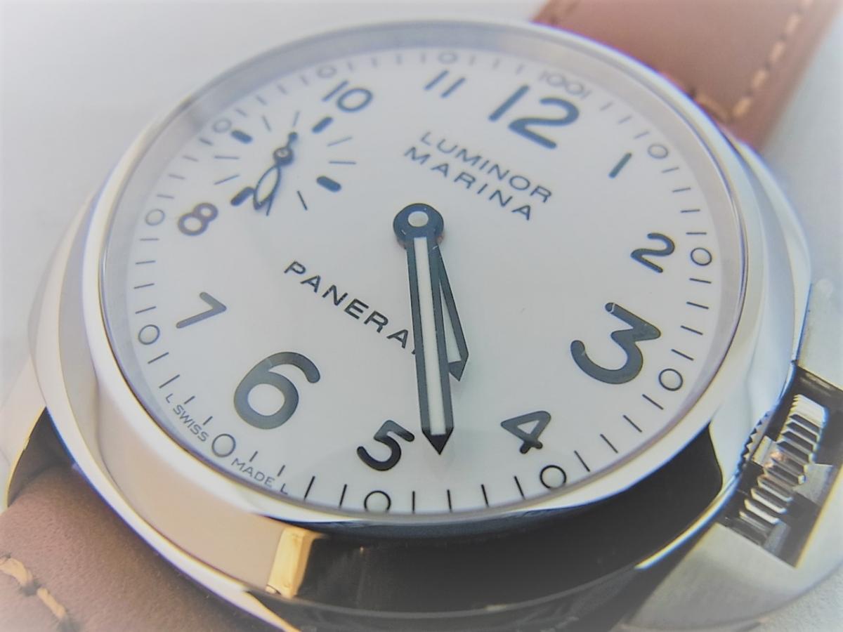 パネライルミノールマリーナPAM00113 P番シリアル(2013年製造モデル) 買取り実績 フェイス斜め画像 時計を売るならピアゾ(PIAZO)