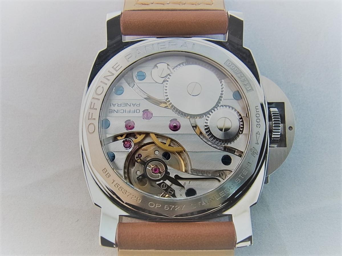 パネライルミノールマリーナPAM00113 P番シリアル(2013年製造モデル) 売却実績 裏蓋画像 時計を売るならピアゾ(PIAZO)