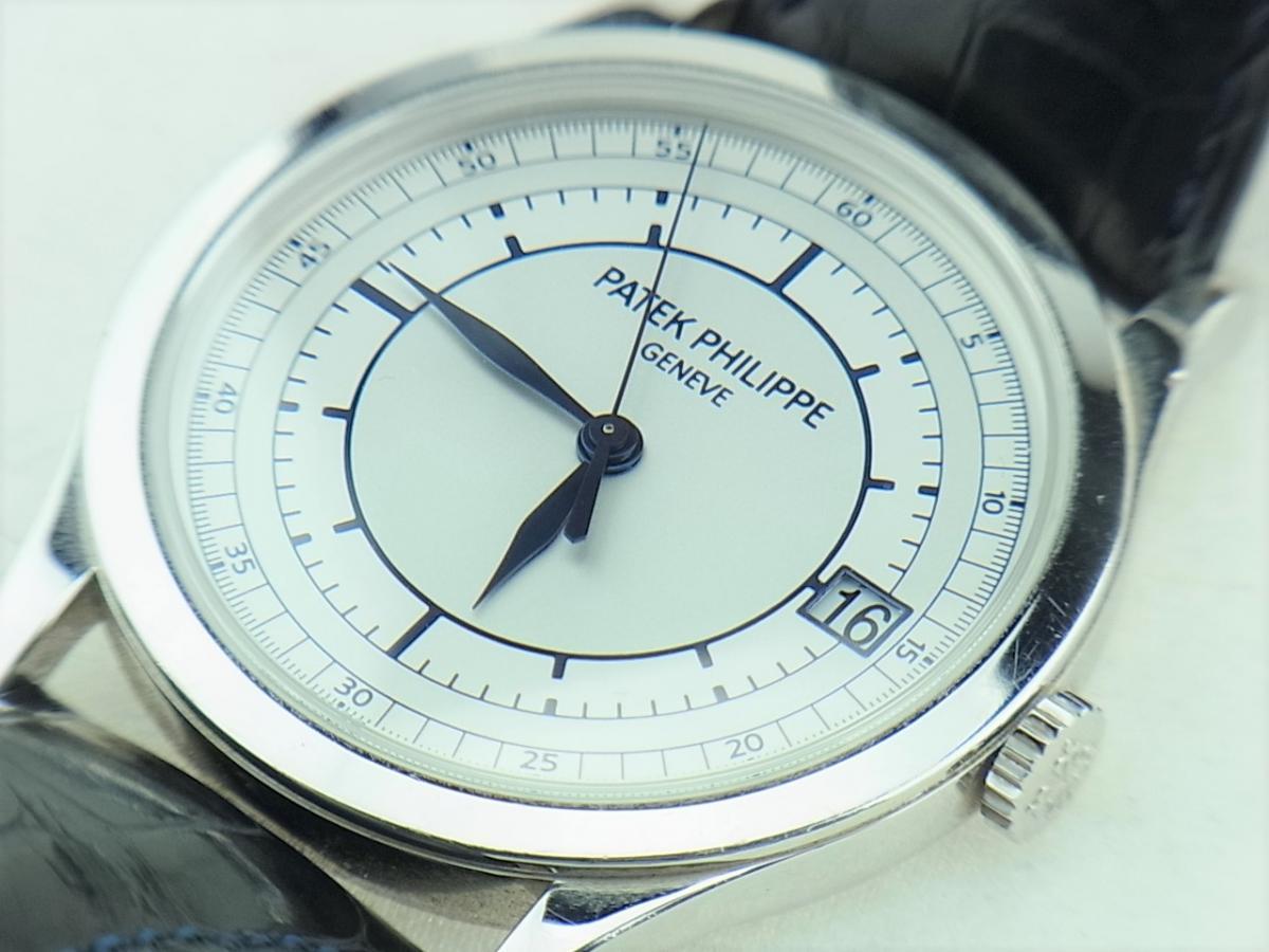 5296G-001 パテックフィリップカラトラバ シルバー5296G-001 メンズ腕時計 買取り実績 フェイス斜め画像 時計を売るならピアゾ(PIAZO)