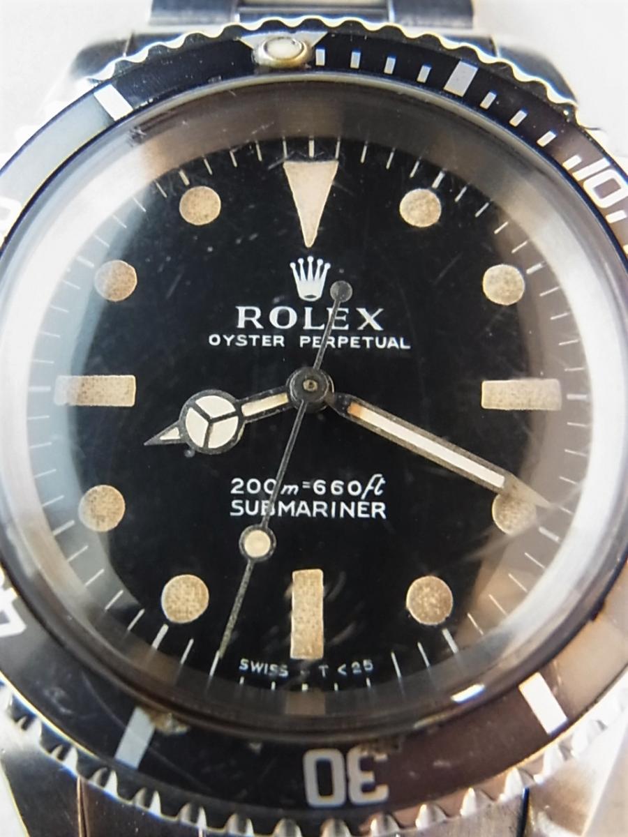 ロレックス 5513 メーターファースト下サブ ロング5 トリチウム 1968年頃製造 メンズ腕時計 買取実績 正面アップ画像 時計を売るならピアゾ(PIAZO)