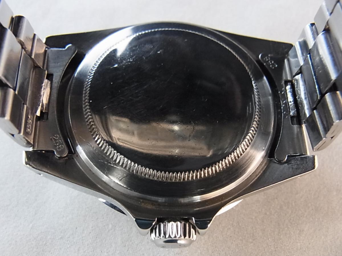 ロレックス 5513 メーターファースト下サブ ロング5 トリチウム 1968年頃製造 メンズ腕時計 売却実績 裏蓋画像 時計を売るならピアゾ(PIAZO)