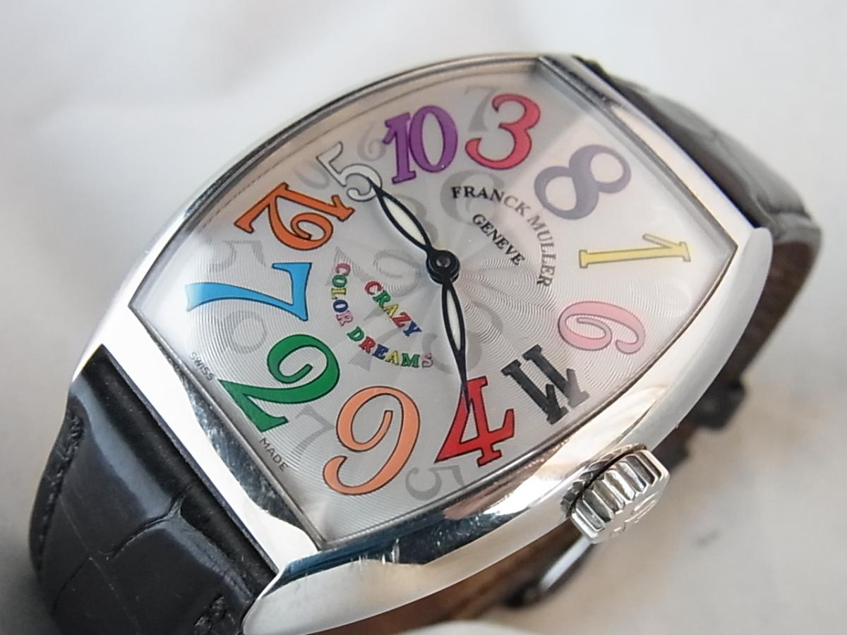 フランクミュラー ウカーベックス クレイジーアワーズ カラードリーム 7851ch ケースSS皮 メンズ腕時計 買取り実績 フェイス斜め画像 時計を売るならピアゾ(PIAZO)